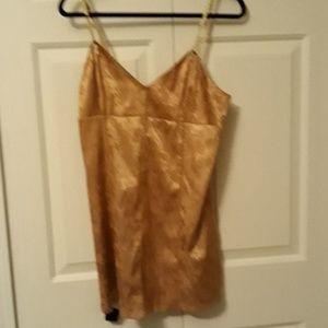 Victoria's Secret lingerie negligee medium gold